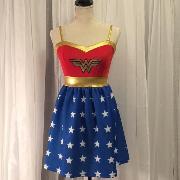 Hot Topic Dresses Dc Comics Wonder Woman Halloween Costume Poshmark New Wonder Woman Skirt Pattern